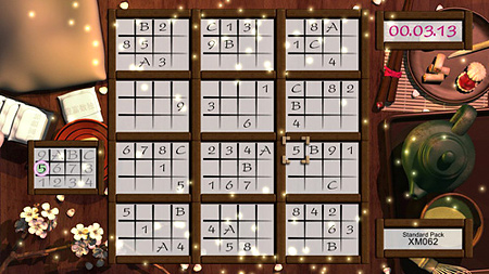 Standard nine by nine for Sudoku traditionalists