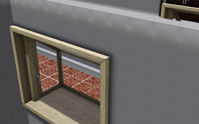 Viewing window that I have ordered to be installed overlooking pit area